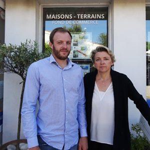 Valérie et Pierre Franchet Capouest Immobilier